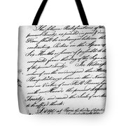 Treaty Of Alliance, 1778 Tote Bag