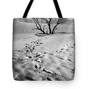 Tree Branch And Footprints On Sleeping Bear Dunes Tote Bag