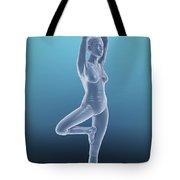Tree Yoga Pose Tote Bag