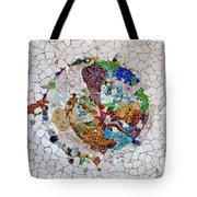 Trencadis Mosaic In Park Guell In Barcelona Tote Bag