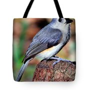 Tufted Titmouse Parus Bicolor Tote Bag