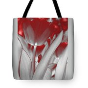 Tulip Abstract Tote Bag