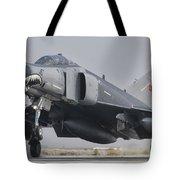 Turkish Air Force F-4 Phantom Landing Tote Bag