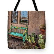 Turquoise Bench Tote Bag