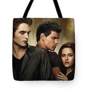 Twilight  Kristen Stewart And Robert Pattinson Artwork 2 Tote Bag