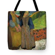 Two Breton Girls By The Sea Tote Bag