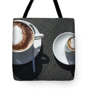 Two Cups Of Coffee Tote Bag