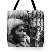 Two Elderly Apache Women Labor Day Rodeo White River Arizona 1969 Tote Bag