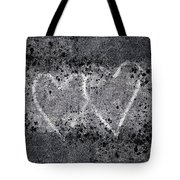 Two Hearts Graffiti Love Tote Bag by Carol Leigh