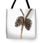 Two Pine Cones One Twig Tote Bag