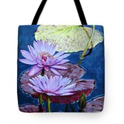 Two Purple Lilies Tote Bag