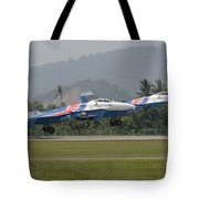 Two Sukhoi Su-27 Flanker Of The Russian Tote Bag