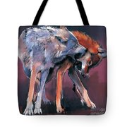 Two Wolves Tote Bag by Mark Adlington