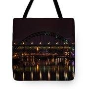 Tyne Bridge At Night Tote Bag