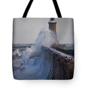 Tynemouth Pier Tote Bag