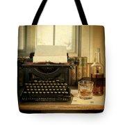 Typewriter And Whiskey Tote Bag