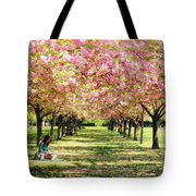 Under The Cherry Blossom Trees Tote Bag