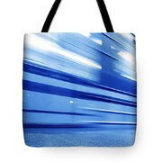 Underground Train Dynamic Motion Tote Bag