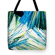 Urea Or Carbamide Crystals In Polarized Light Tote Bag