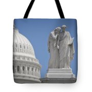 Us Capitol Peace Monument Tote Bag