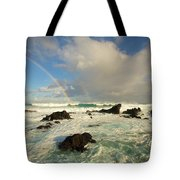 Usa, Hawaii, Rainbow Offshore Tote Bag