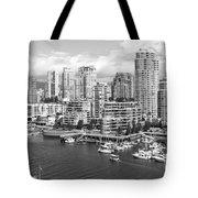 Vancouver Bc Downtown Skyline At False Creek Canada Tote Bag