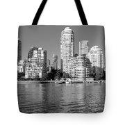 Vancouver Bc Downtown Skyline Tote Bag