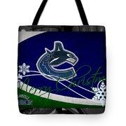 Vancouver Canucks Christmas Tote Bag