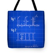 Velcro Patent 1952 - Blue Tote Bag
