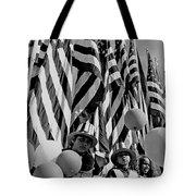 Veteran's Day Parade University Of Arizona Tucson Black And White Tote Bag