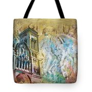 Vezelay Church And Hill Tote Bag