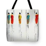 Vibrant Masai Warriors - Original Artwork Tote Bag