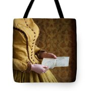Victorian Woman Reading A Love Letter Tote Bag