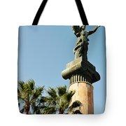 Victory Statue In Puerto Banus Tote Bag