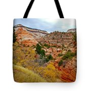 View Along East Side Of Zion-mount Carmel Highway In Zion National Park-utah   Tote Bag