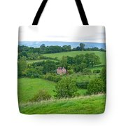View From Glastonbury Tor Tote Bag