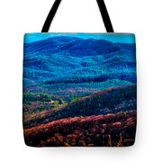 View From Table Rock Mountain Tote Bag