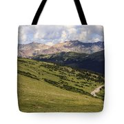 view from the Trail Ridge Road. Tote Bag