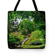View Of A Japanese Garden Tote Bag