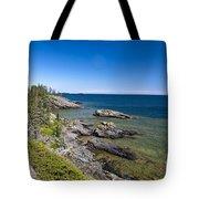 View Of Rock Harbor And Lake Superior Isle Royale National Park Tote Bag
