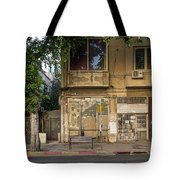 View Of Shops On The Street, Allenby Tote Bag