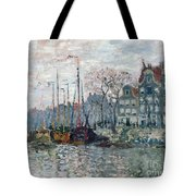 View Of The Prins Hendrikkade And The Kromme Waal In Amsterdam Tote Bag