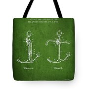 Vintage Anchor Patent Drawing From 1902 Tote Bag