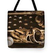 Vintage Baseball Tote Bag