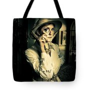 Vintage Explorer With Magnifying Glass Tote Bag