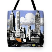 Vintage New York Travel Poster Tote Bag