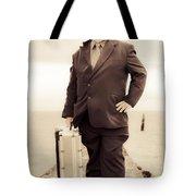 Vintage Traveling Business Man Tote Bag
