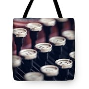 Vintage Typewriter Keys Tote Bag