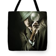 Vintage Undercover Spy On Dark Background Tote Bag