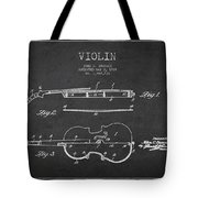 Vintage Violin Patent Drawing From 1928 Tote Bag